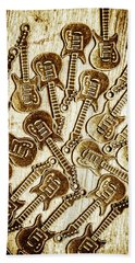 Guitar Echo Chamber Beach Towel