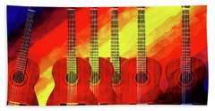 Guitar Fantasy One Beach Towel