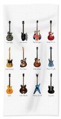 Guitar Icons No3 Beach Towel by Mark Rogan