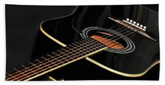 Beach Sheet featuring the photograph Guitar Low Key By Kaye Menner by Kaye Menner