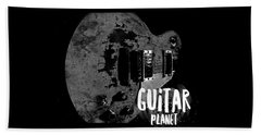 Beach Towel featuring the photograph Guitar Planet  by Guitar Wacky