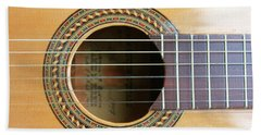 Guitar Rosette Beach Towel