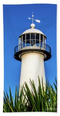 Gulf Coast Lighthouse Seascape Biloxi Ms 3819a Beach Towel