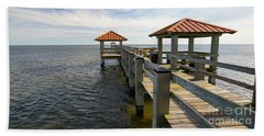 Gulf Coast Pier Beach Towel