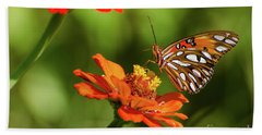 Gulf Fritillary Butterfly Beach Sheet
