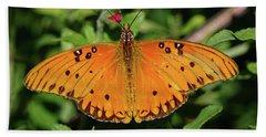 Gulf Fritillary Butterfly Beach Towel
