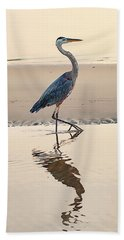 Gulf Port Great Blue Heron Beach Towel