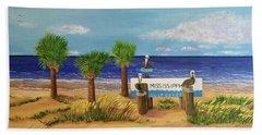 Gulf Shore Welcome Beach Towel
