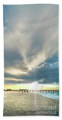 Gulf Shores Al Pier Seascape Sunrise 152a Beach Towel