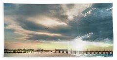 Gulf Shores Al Pier Seascape Sunrise 152c Beach Sheet