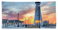 Gulfport Lighthouse Beach Towel