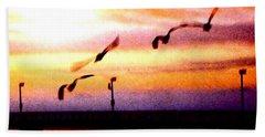 Gull Play Beach Sheet by Sadie Reneau