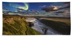 Gullfoss Iceland Beach Towel