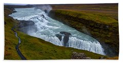 Gullfoss Waterfall #2 - Iceland Beach Towel