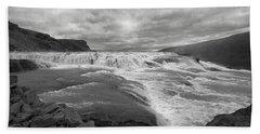 Gullfoss Waterfall No. 1 Beach Towel by Joe Bonita