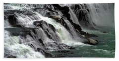 Beach Towel featuring the photograph Gullfoss Waterfalls, Iceland by Dubi Roman