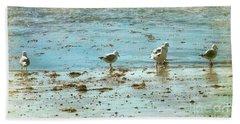 Gulls On The Edge Beach Sheet