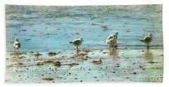 Gulls On The Edge Beach Sheet