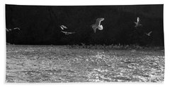 Gulls On The River Beach Towel
