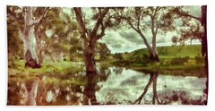 Beach Towel featuring the photograph Gum Creek V2 by Douglas Barnard