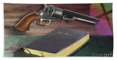 Gun And Bibles Beach Towel