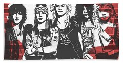 Guns N Roses Graffiti Tribute Beach Sheet