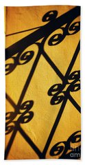 Beach Towel featuring the photograph Gutter And Ornate Shadows by Silvia Ganora