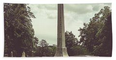 Beach Towel featuring the photograph Gwaltney Monument In Smithfield Va by Melissa Messick