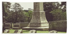 Beach Towel featuring the photograph Gwaltney Monument In Smithfield Virginia by Melissa Messick