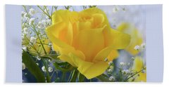 Gypsophila And The Rose. Beach Towel by Terence Davis