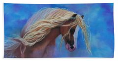 Beach Towel featuring the pastel Gypsy In The Wind by Karen Kennedy Chatham
