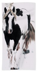 Beach Towel featuring the painting Gypsy Vanner by Isabella F Abbie Shores FRSA