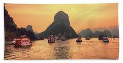 Ha Long Bay Cruises  Beach Towel