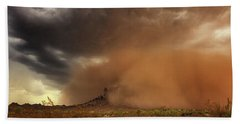 Beach Towel featuring the photograph Haboob Is Coming by Rick Furmanek