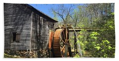 Beach Towel featuring the photograph Hagood Mill Historic Site Gristmill by Kelly Hazel