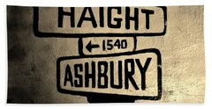 Haight Ashbury Beach Towel