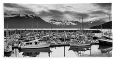 Haines Harbor Beach Towel