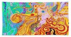 Hair Of The Divine Universe Beach Sheet