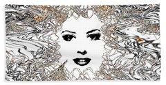 Beach Towel featuring the digital art Hair Thair And Everywhair Mara by Seth Weaver