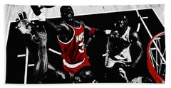 Hakeem Olajuwon Gimme Dat Beach Towel by Brian Reaves