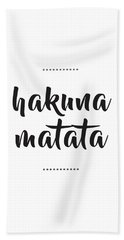 Hakuna Matata  Beach Sheet