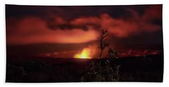 Beach Towel featuring the photograph Halemaumau Crater by Susan Rissi Tregoning