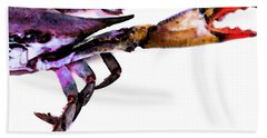 Half Crab - The Right Side Beach Towel