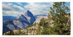 Half Dome And Olmstead Point Beach Towel