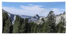 Half Dome From Olmstead Point Yosemite Valley Yosemite National Park Beach Towel