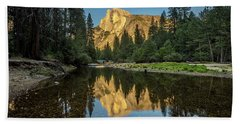 Half Dome From  The Merced Beach Towel by Peter Tellone