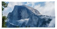 Half Dome In The Clouds Beach Towel
