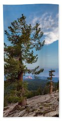 Half Dome Through The Trees Beach Towel