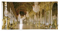 Hall Of Mirrors At The Chateau De Versailles Beach Towel
