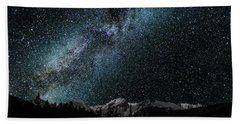 Hallet Peak - Milky Way Beach Towel